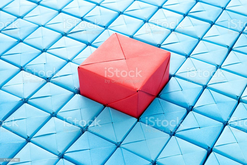 Big red cube royalty-free stock photo