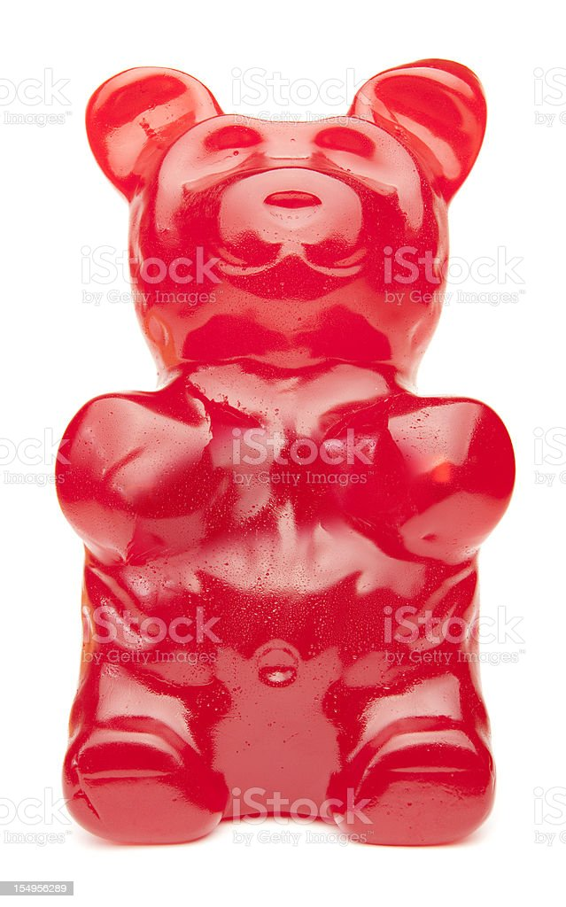 Big Red Gummy Bear stock photo