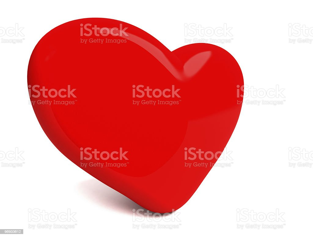 Big Red heart isolated on white royalty-free stock photo