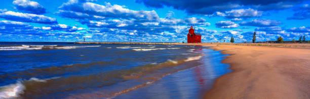 Big Red Lighthouse,Holland, MI stock photo
