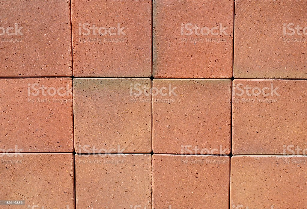 Big Red Luxury German Ceramic Clinker Pavers for Patio. stock photo