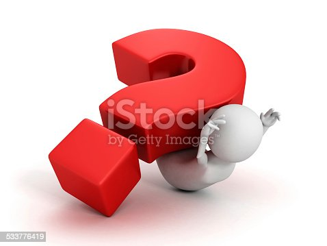 istock big red question mark fall on white 3d person 533776419