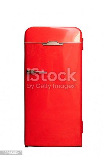 istock big red refrigerator 50s 1076836342