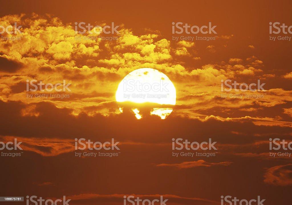 Big red sun royalty-free stock photo