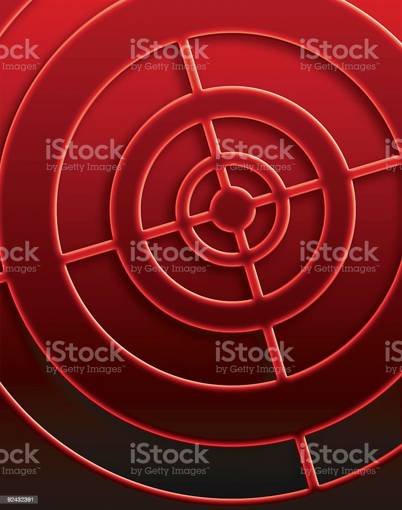 Big Red Target royalty-free stock photo