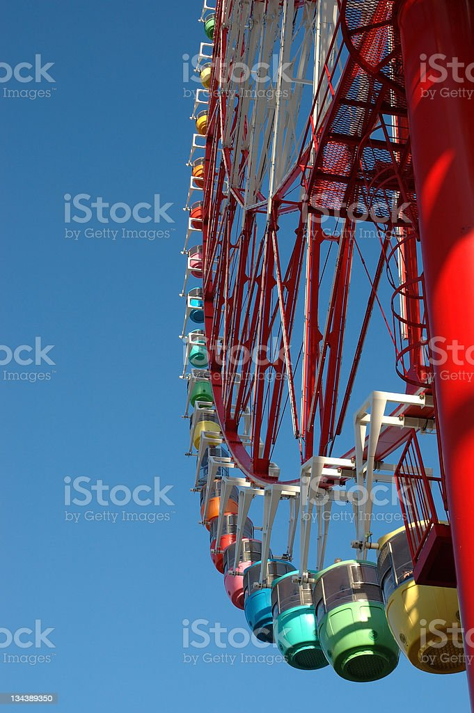 Big red wheel royalty-free stock photo