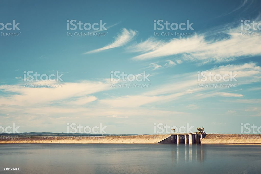 Big reservoir stock photo