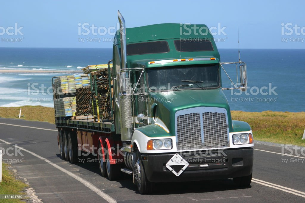 Big Rig Oceanside royalty-free stock photo