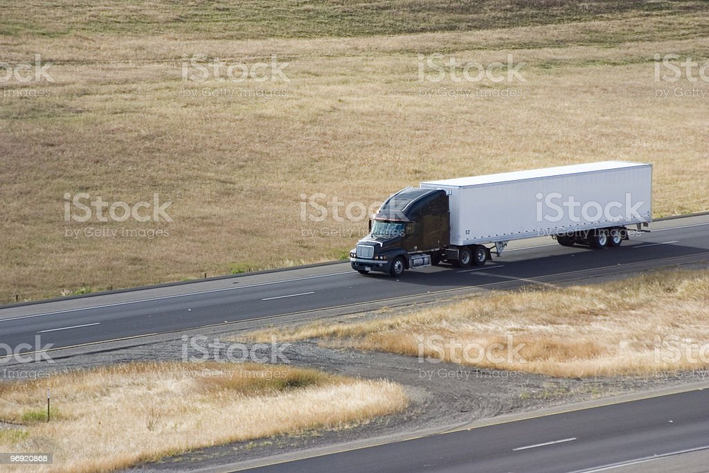 Big Rig on the Road 2 royalty-free stock photo