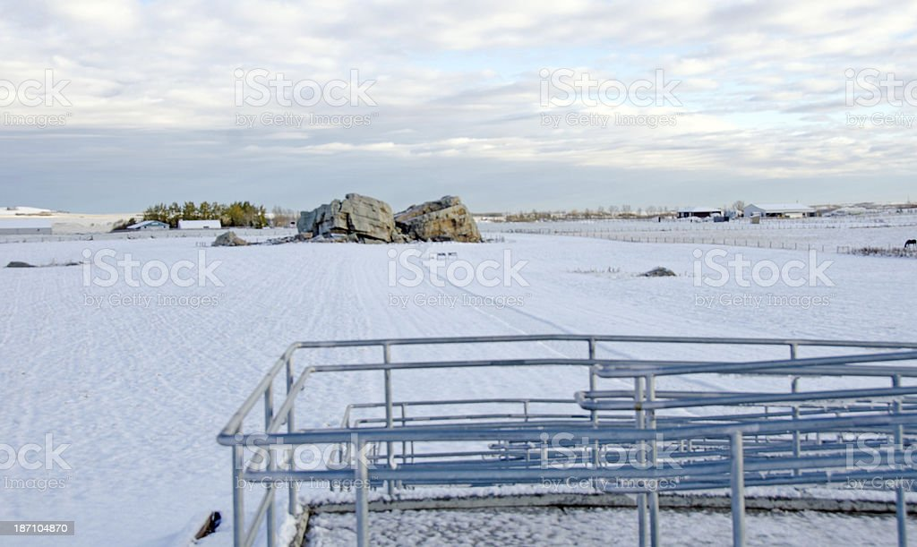 Big Rock Erratic royalty-free stock photo
