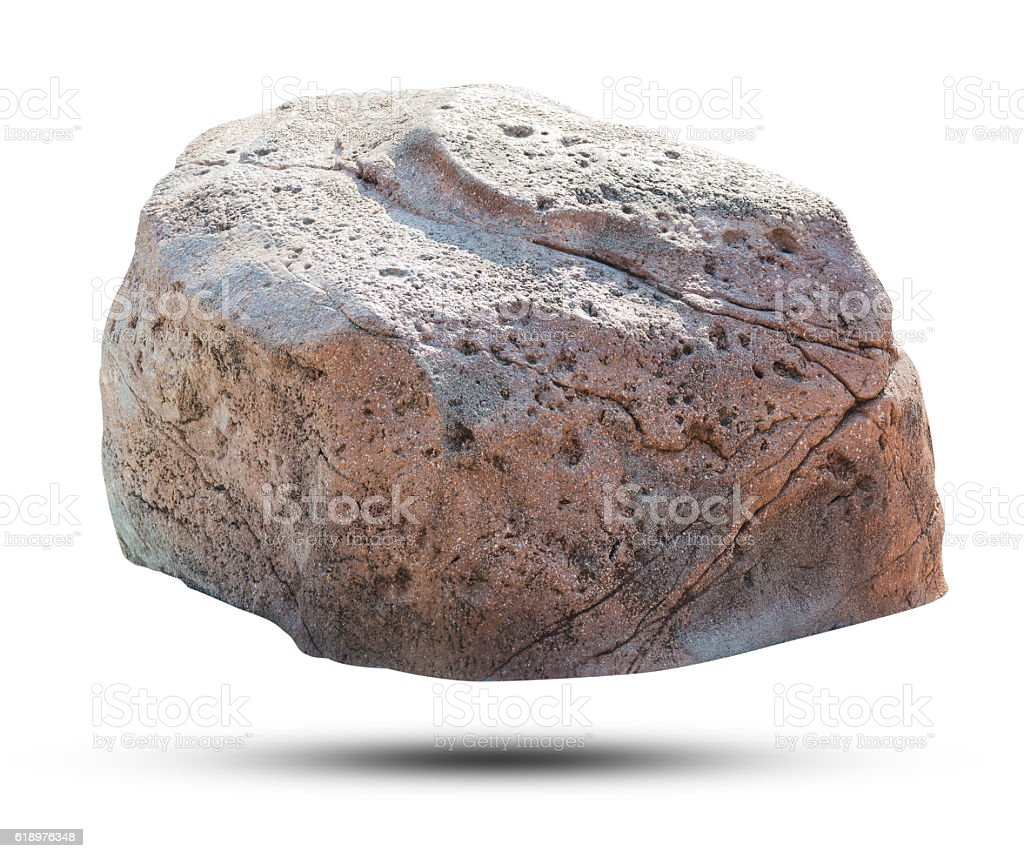 Big rock isolated on white background. stock photo