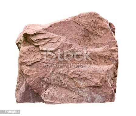 big sandstone isolated on white with clipping path