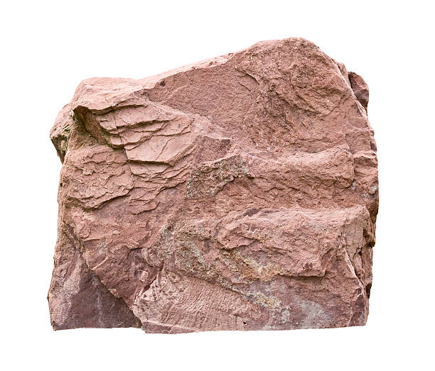 big rock big sandstone isolated on white with clipping path rock object stock pictures, royalty-free photos & images