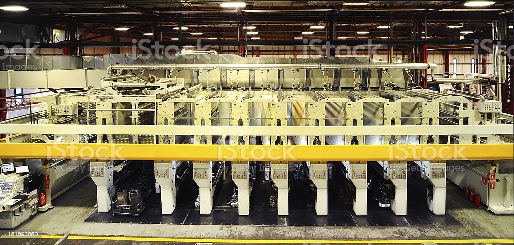 Big rotation printing press royalty-free stock photo