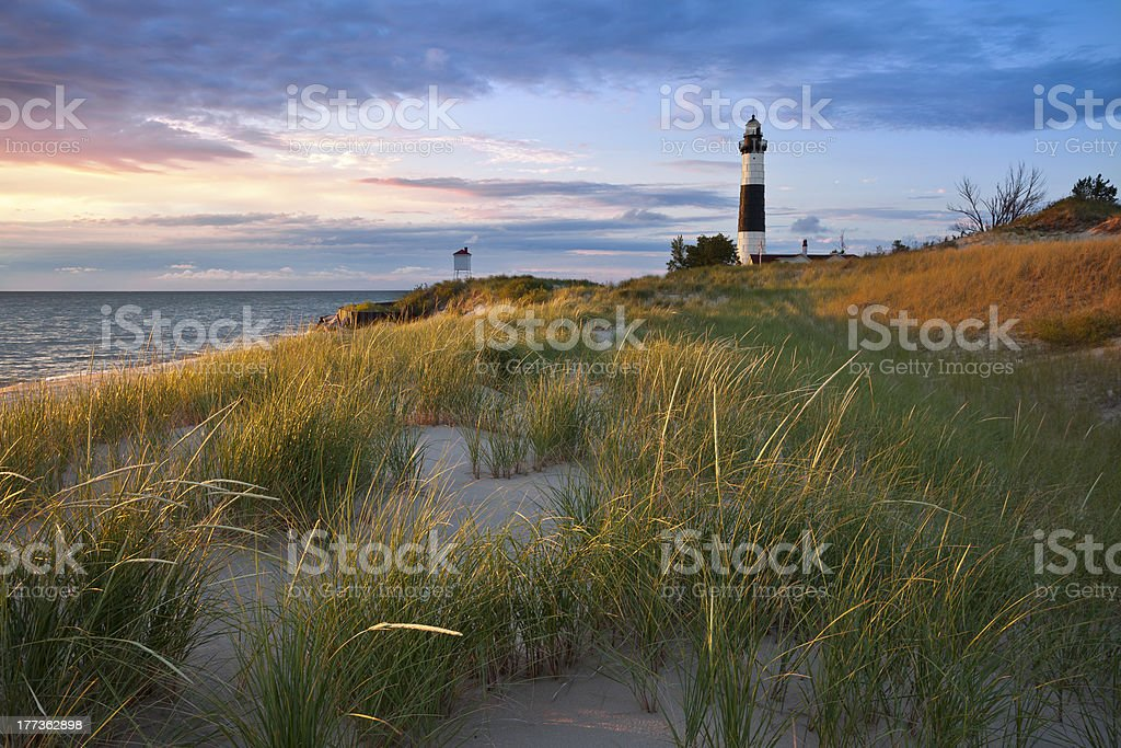 Big Sable Point Lighthouse. stock photo