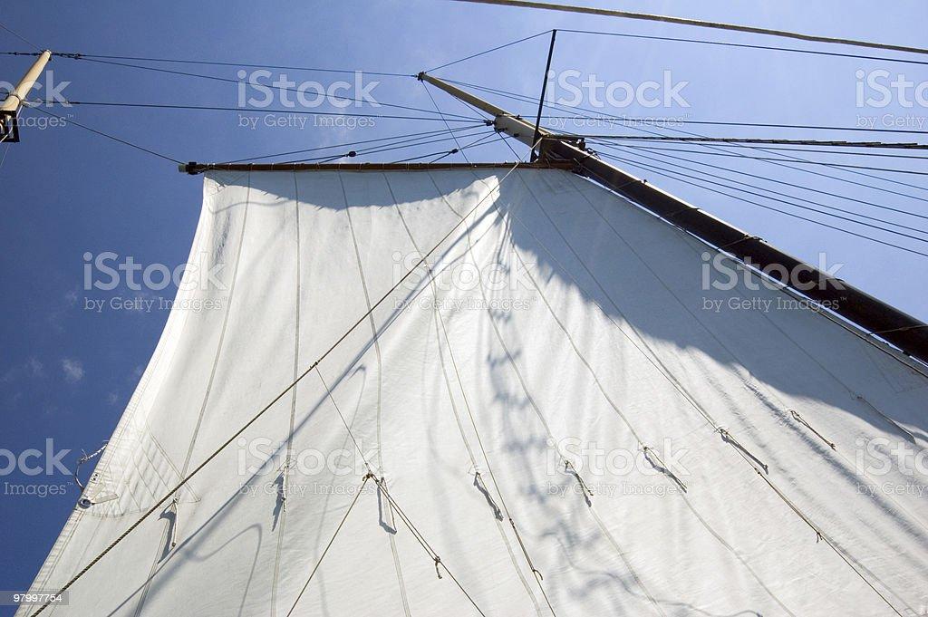 Big sail royalty-free stock photo