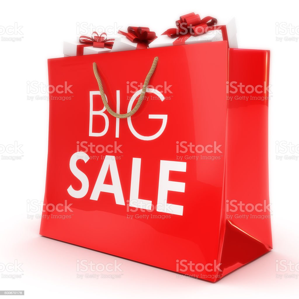 Big Sale Gift Bag With Gifts Stock Photo & More Pictures of 2015 ...