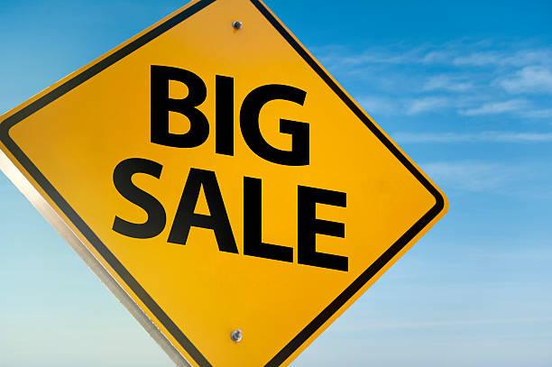 big sale/señal de advertencia (haga clic para obtener más información - black friday sale fotografías e imágenes de stock