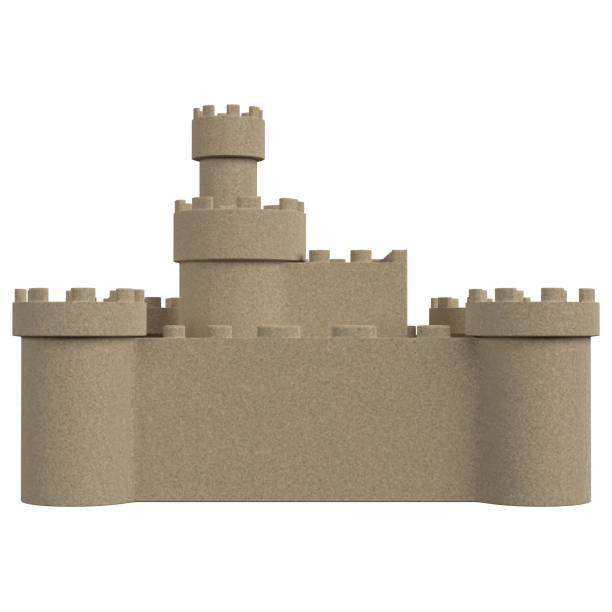 Big sand castle - foto stock
