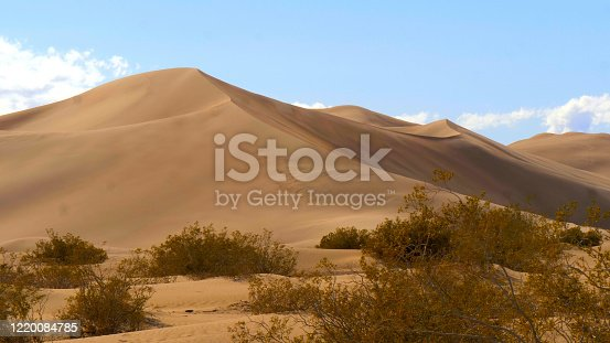 Big Sand Dunes in the desert of Nevada