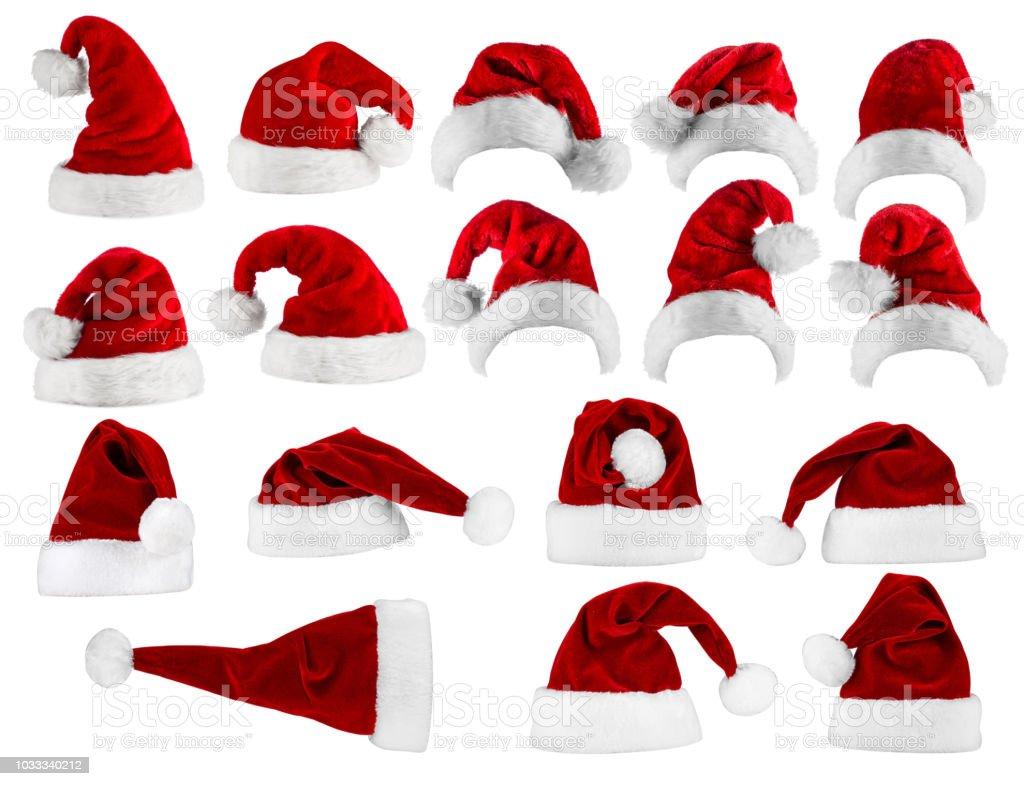 gran colección de sombrero de santa foto de stock libre de derechos