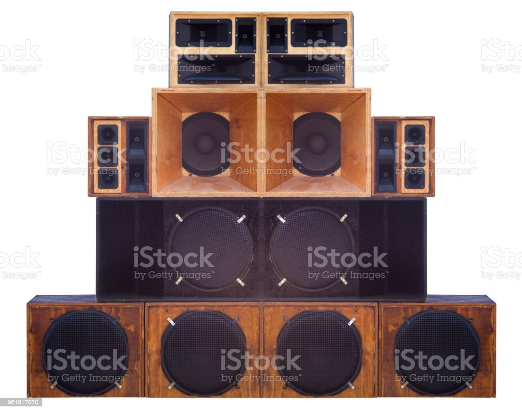 big set of loudspeaker for a concert or music show royalty-free stock photo