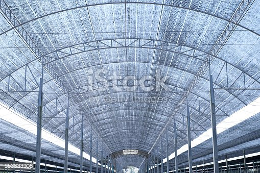 Big shading net with steel structure for growing plants