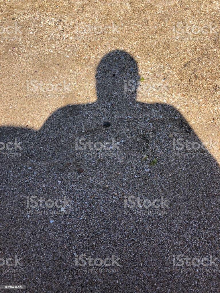 Big shadow stock photo