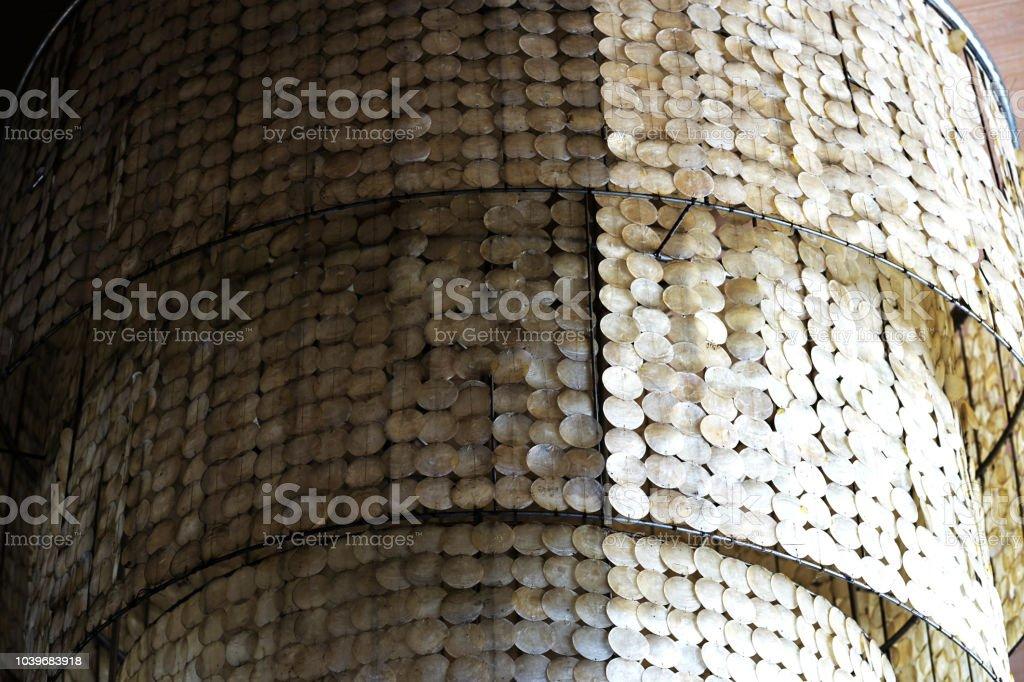 Grosse Schale Dekoration Handgemachte Licht Hangelampe Stockfoto