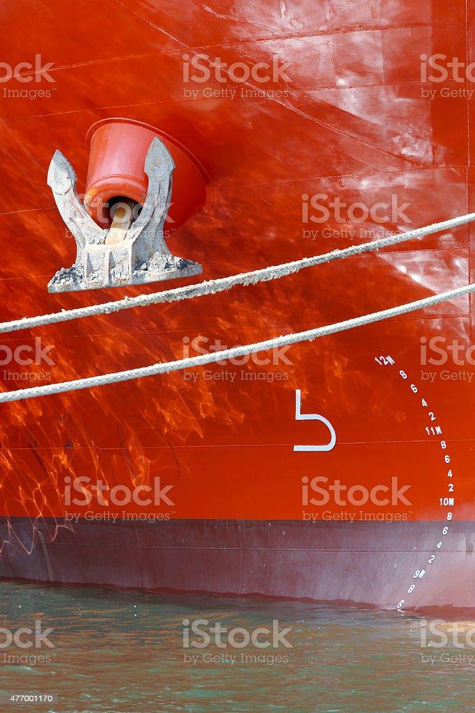 big ship, closeup stock photo