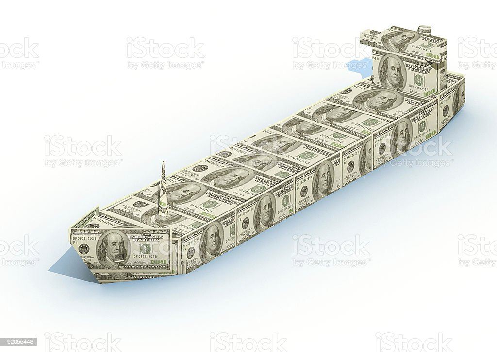 Big ship from dollar royalty-free stock photo