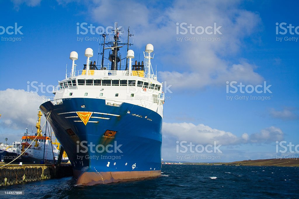Big ship in small harbour royalty-free stock photo