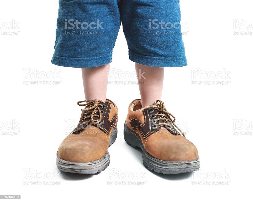 big shoes stock photo