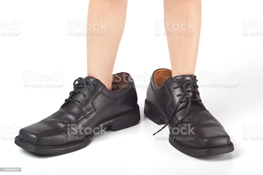 Big shoes to fill stock photo