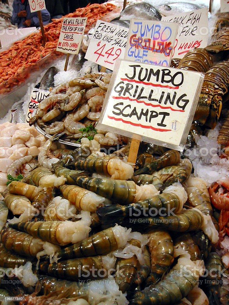 Big Shrimp! royalty-free stock photo