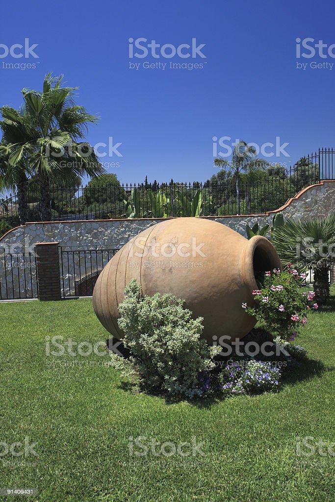 Anfore Con Fiori.Big Siciliani Anfora Terracotta Con Fiori In Un Bellissimo