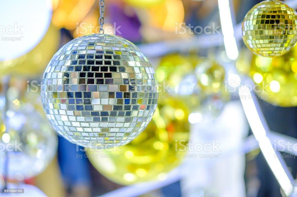 Big silver ornament. stock photo