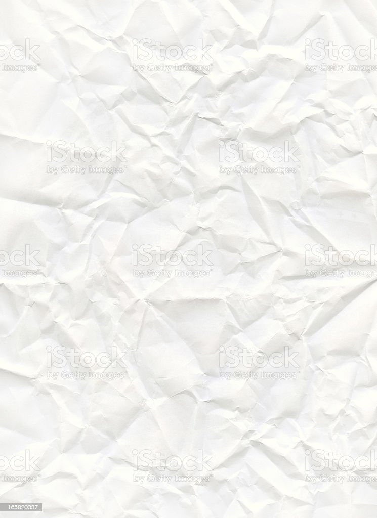 big size crumpled white paper stock photo