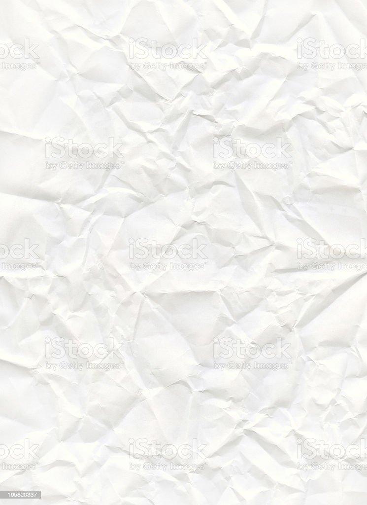 big size crumpled white paper stock photo