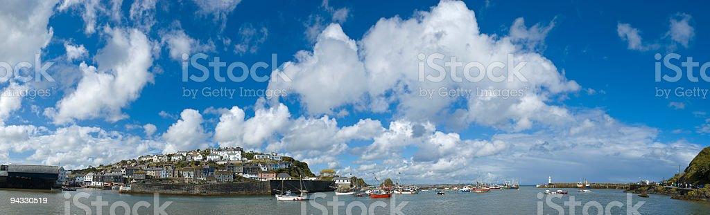 Big skies, ocean harbor royalty-free stock photo