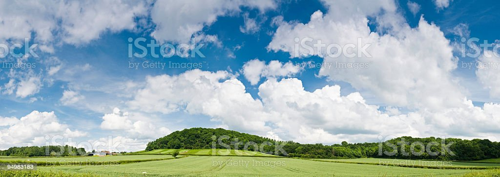 Big skies over summer country royalty-free stock photo