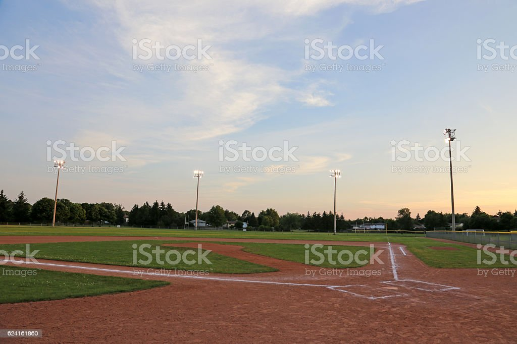 Big Sky Ball Field stock photo