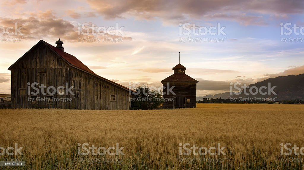 Big Sky Barns stock photo