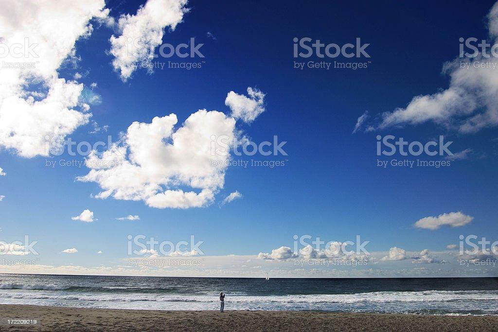 big sky beach royalty-free stock photo