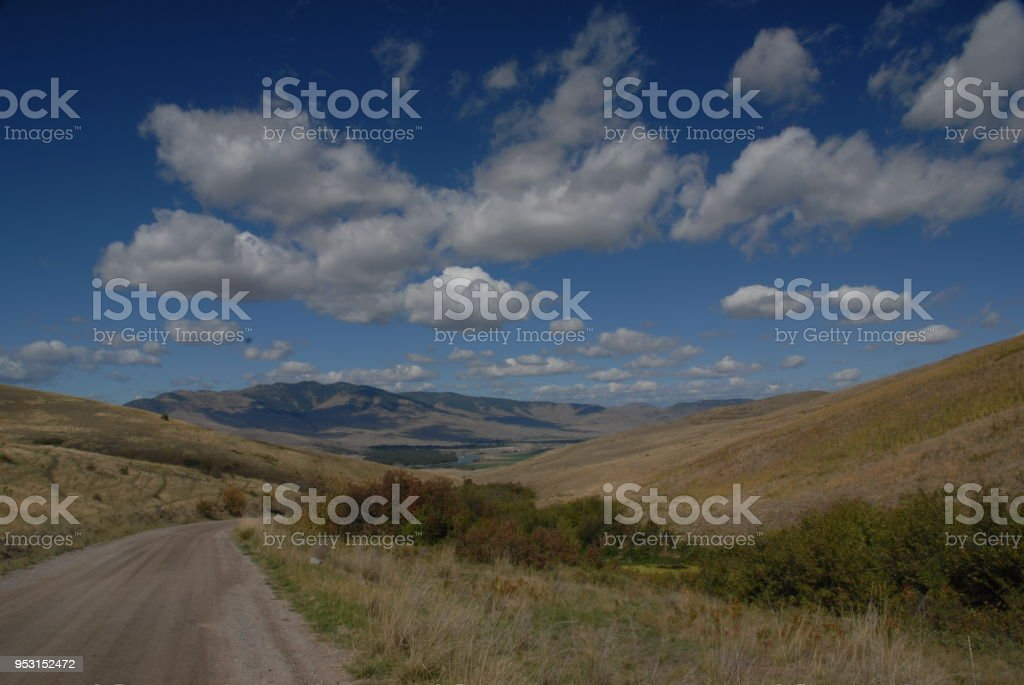 Big Sky Country, Montana stock photo