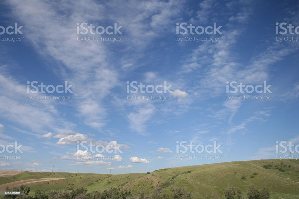 Big Sky Country stock photo