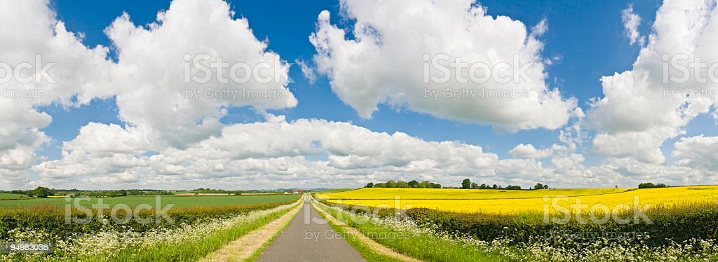 Big sky country road royalty-free stock photo