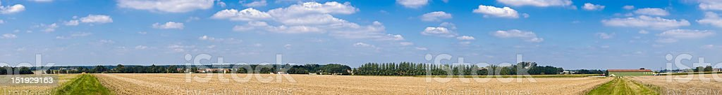 Big sky farmland panorama royalty-free stock photo