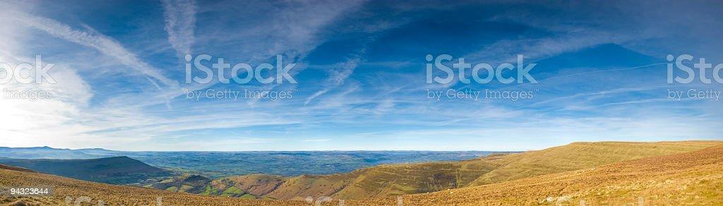 Big sky horizon stock photo