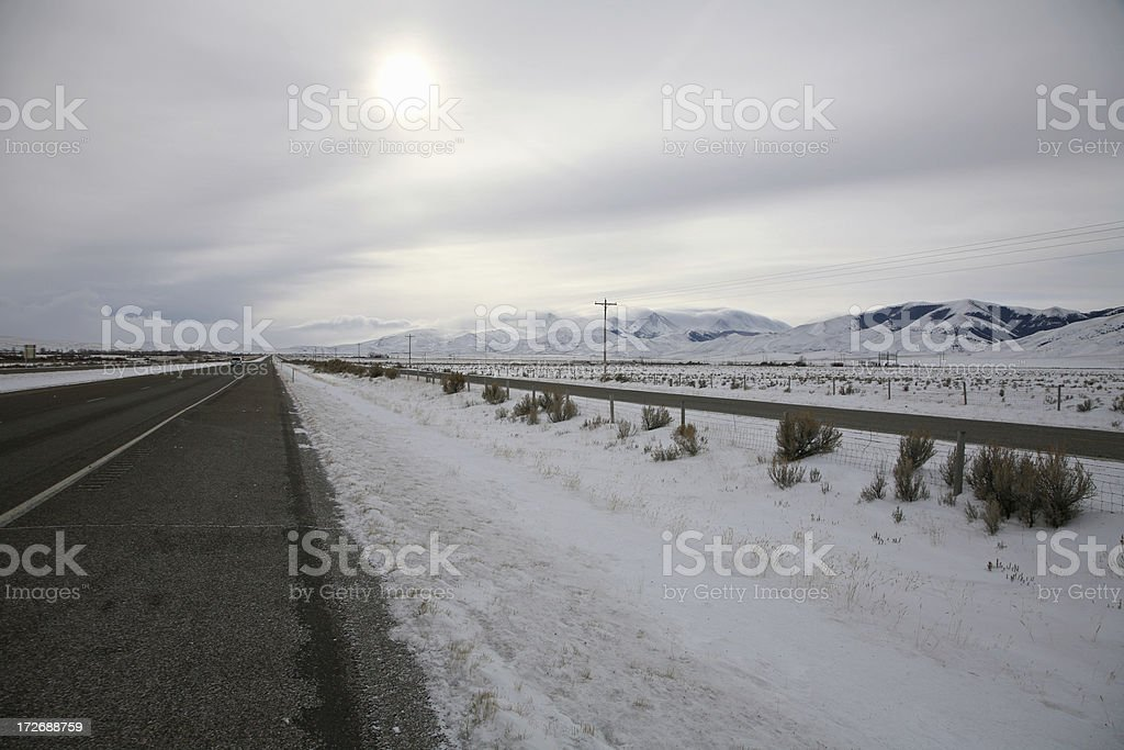 Big Sky Montana Winter Morning royalty-free stock photo